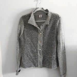 Cabi Square Stitch Snap-front Cardigan